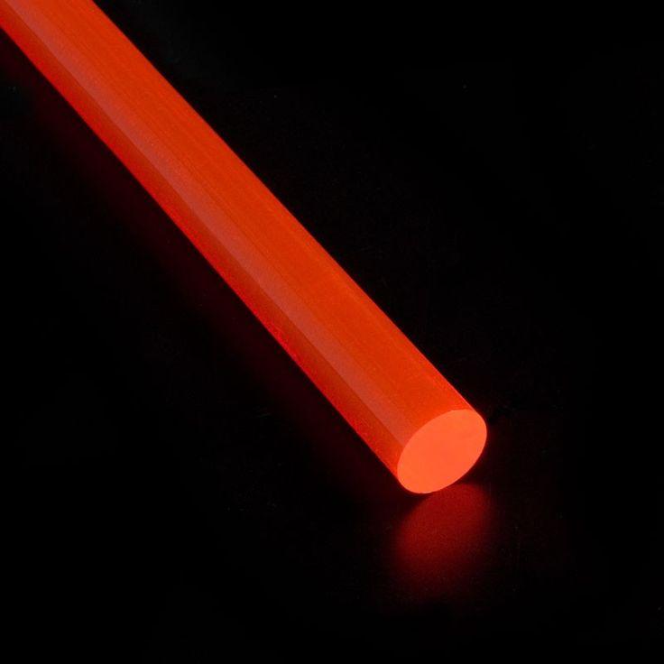 VARILLA METACRILATO FLUORESCENTE - Varillas de metacrilato fluorescente de cuatro colores y varios diámetros. Para infinitas aplicaciones como joyería, juguetería, decoración, iluminación, ...