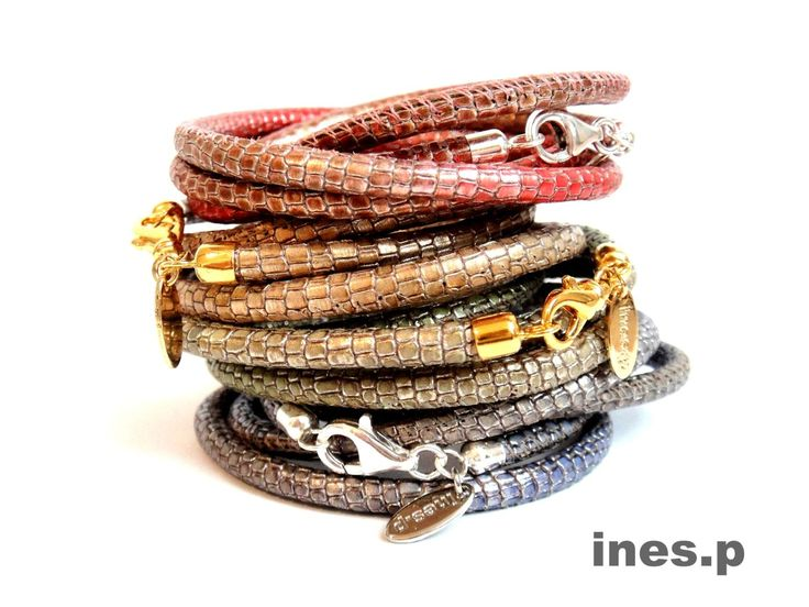 Lederarmband Reptile Glam - jeans jeweils 49 Euro Hier erhältlich: http://www.inesp.de/shop-1/mixed-1/