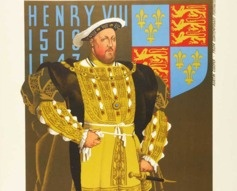 1935 Henry VIII Hampton Court by Tramways Poster