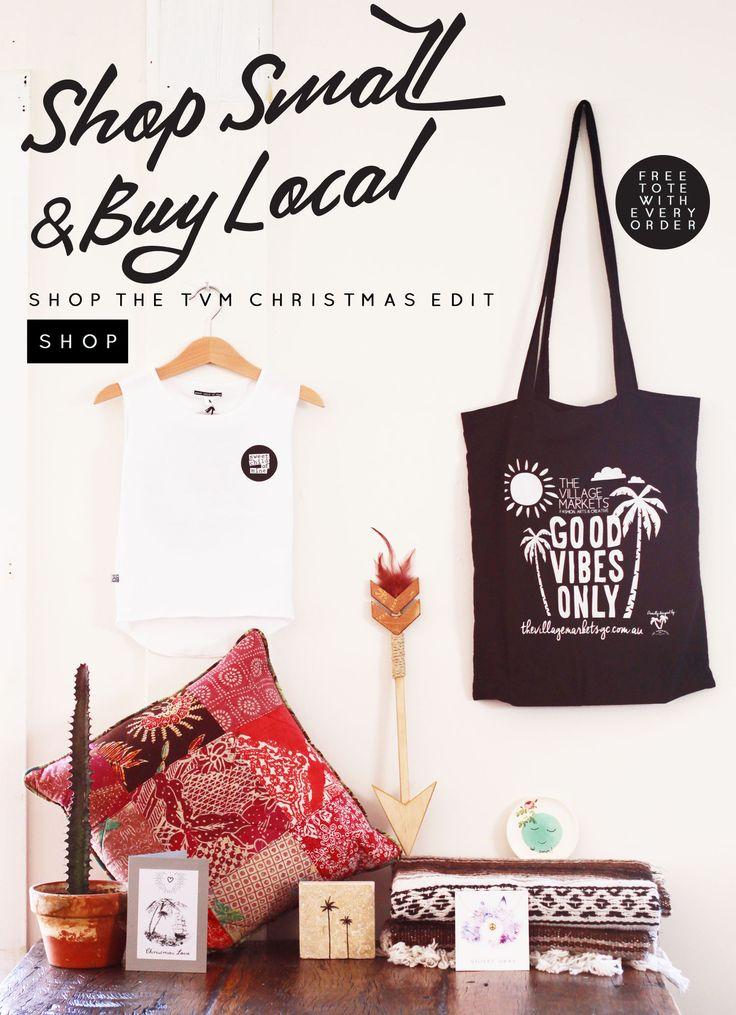 Shop the TVM Christmas Edit - The Village Markets #shopsmall  Shop online at thevillagemarketsgc.com.au/shop