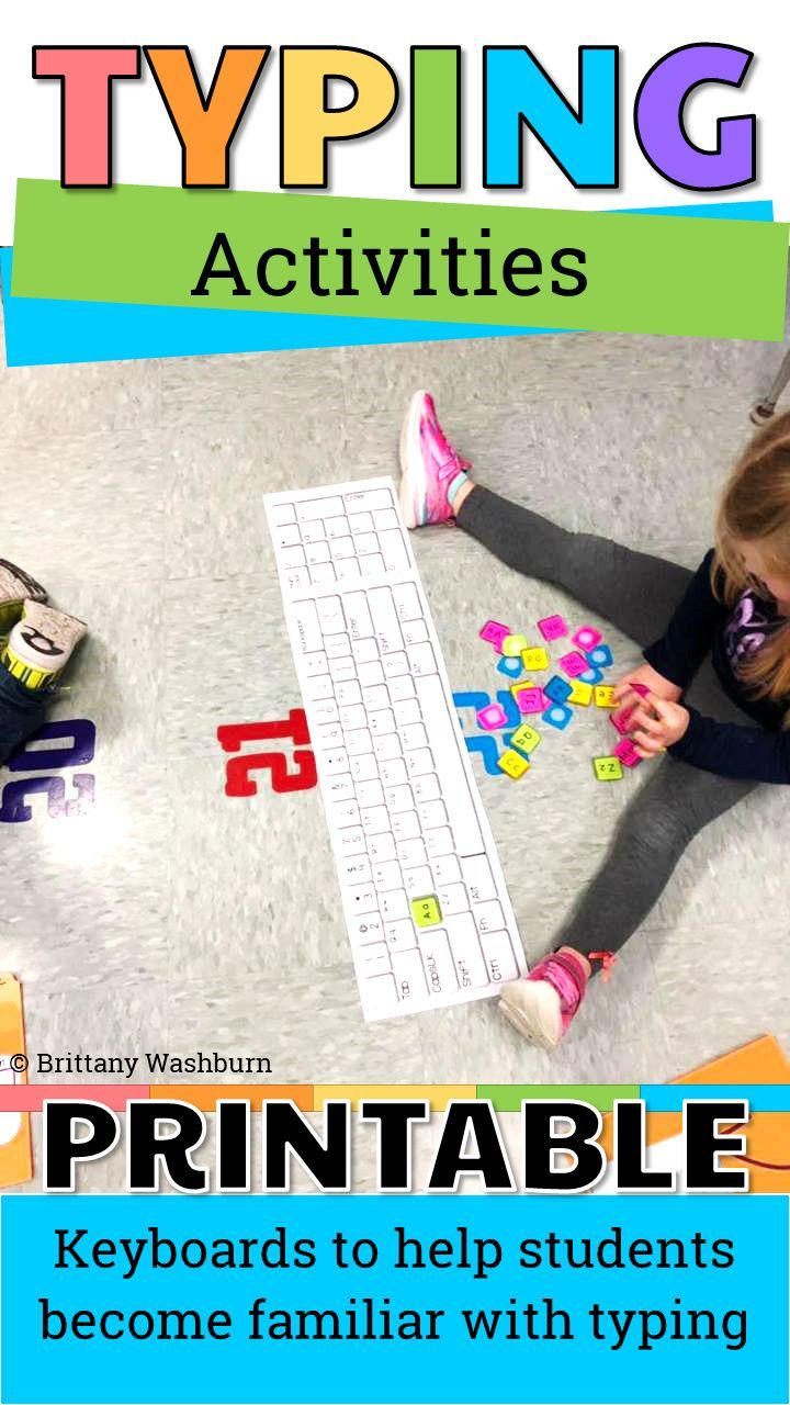 Students Practice The Alphabet By Matching Individual Letter Keys To Their Places On A Keyboa Technology Lessons Elementary Computer Lab Computer Lab Classroom