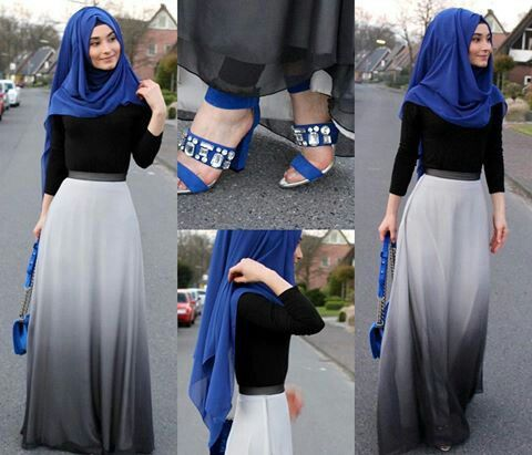 Don't really like the hijab style but her outfit in general is cute. Love the colors.