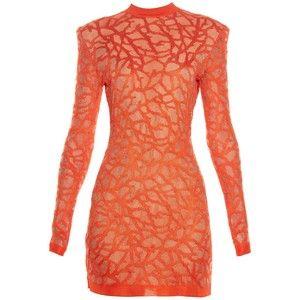 Balmain Coral-effect knit dress