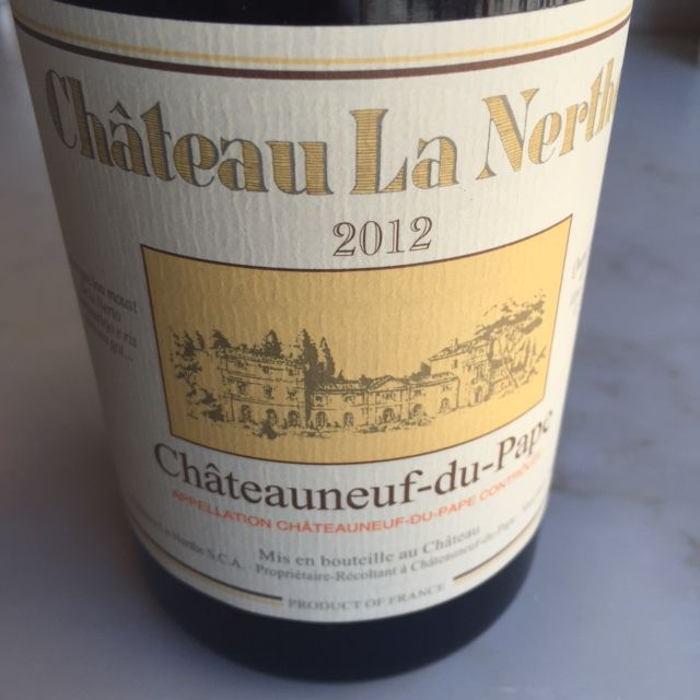The Chateau La Nerthe 2012 adds a touch of cocoa and earthy body balanced with fresh blackberry. $58