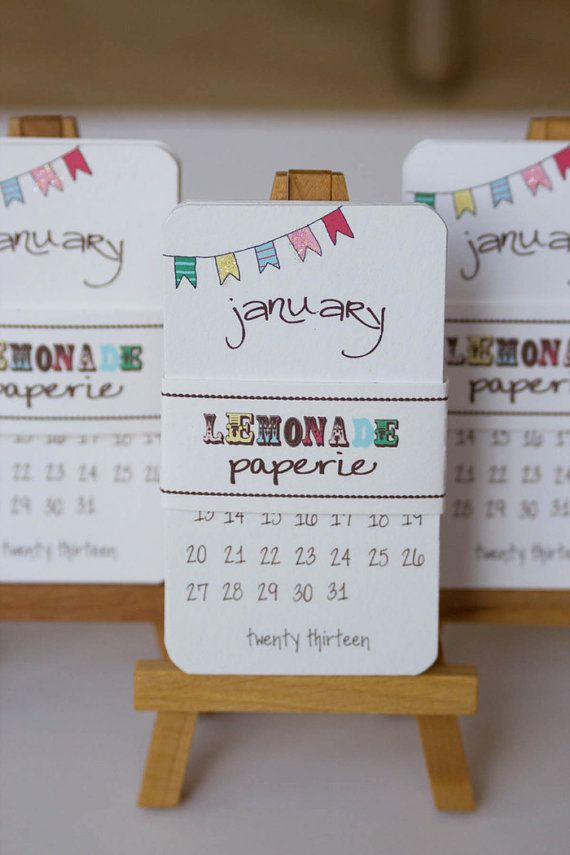 Calendar+2013+Mini+Doodle+Desk+Calendar+With+by+lemonadepaperie,+$11.00