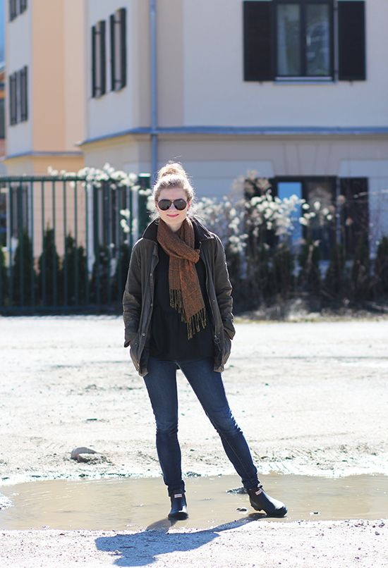 Outfitpost: Schietwetterlook mit Hunter & Barbour | Lady Blog