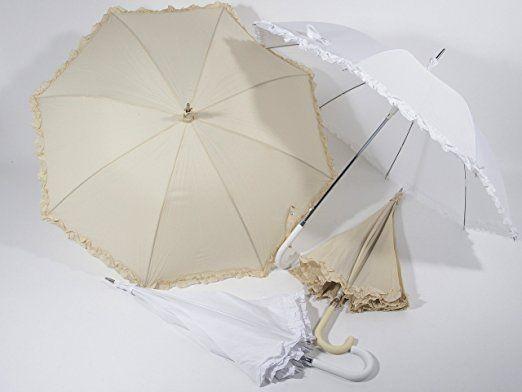 Ombrello Bianco da Sposa Elegante impermeabile apertura automatica