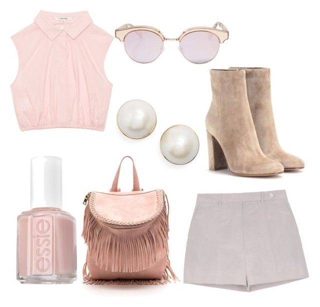 """""""casual , campo"""" by samantha2nazaret on Polyvore featuring Rochas, Essie, Le Specs, Kate Spade and Gianvito Rossi"""