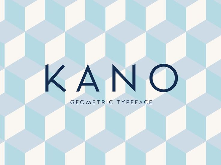 Kanois ageometric fontavailable freefor personal and commercial use. Freebie designed byFrederick Lee. Download Font