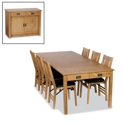 stakmore mission expanding cabinet dining set with true mission