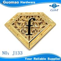 """Forma de diamante logo metal etiqueta com """" F """" carta - ID do produto : 60007346824 - m.portuguese.alibaba.com"""