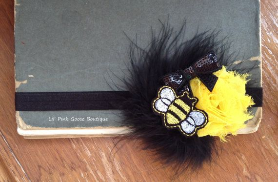 Welcome to Lil Pink Goose Boutique!!  Photo Credits go to Valarie Gatti Photography http://www.valarieg.com/  This Listing is for my 3 Piece Baby Bee Set which includes my Bumblebee Themed Tutu, Bee Themed Headband, and my Bee Legwarmers. This set can be made up to a size 1-2 Year. I do recommend to measure your sweeties waist for a better fit. My Tutus do stretch, so take off about a half inch to a inch of the waist measurement. I prefer the Tutu to fit snug rather than loose, then it poofs…