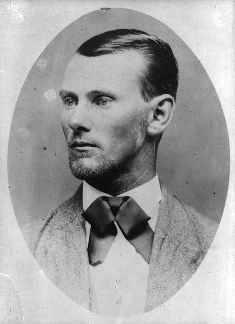 Jesse James, 1869, Nebraska City, Kin to modern day Jesse James friend of Sandra Bullock.