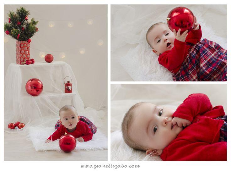 baby photography christmas