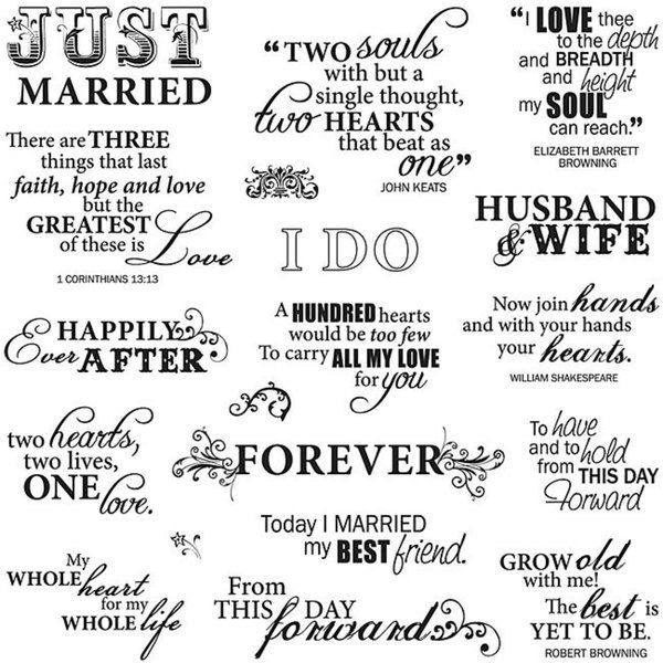 Fiskars Just Married 8x8-inch Quote Clear Stamp Sheet - 12786034 - Overstock.com Shopping - Big Discounts on Fiskars Clear & Cling Stamps