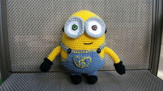 Crochet Bob Minion Doll by JensNeedleKnows on Etsy