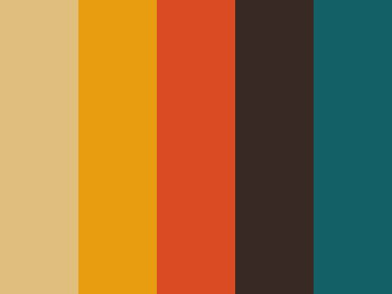 Teal Orange And Yellow Colors Theme For My House
