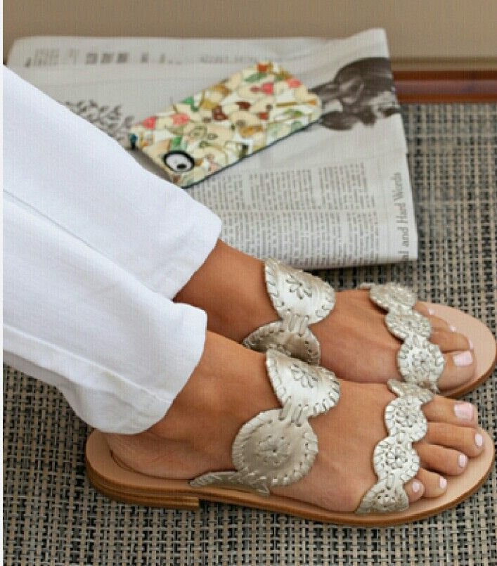 Silver sandals that will make your feet shine.
