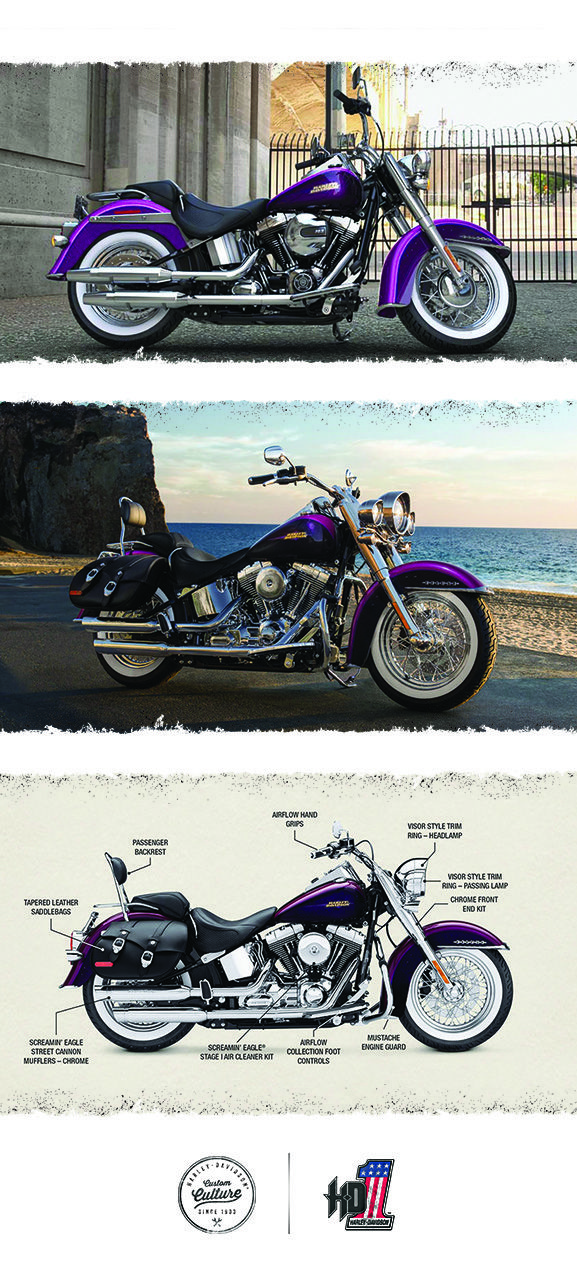 This is a ride back into the old-school syle H-D motorcycles of 1939, wrapped around modern power & performance. 2016 Harley-Davidson Softail Deluxe