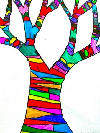 "Artsonia Art Museum :: Artwork by Olivia8761 ""Tree of Thanks"" Thanksgiving art project"