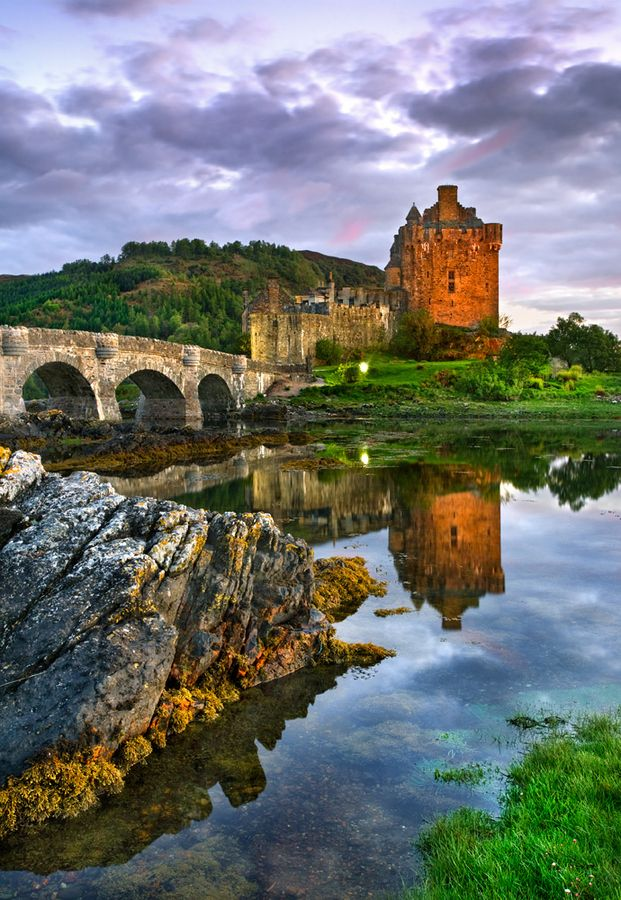 Eilean Donan Castle, on the main tourist route to the Isle of Skye, is one of the icons of Scotland and perhaps the most photographed castle in the whole country