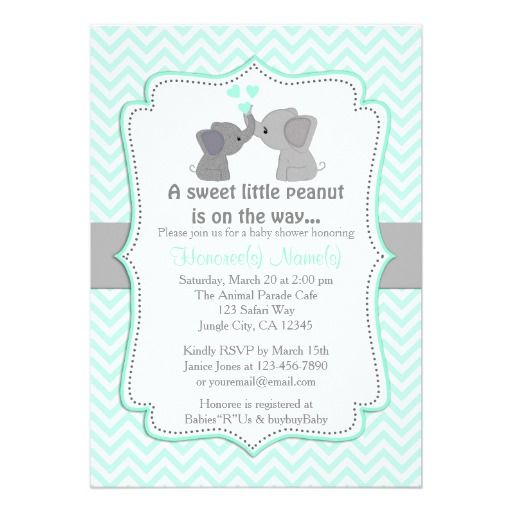 Baby Shower Boy Invitation: 456 Best Elephant Baby Shower Invitations Images On