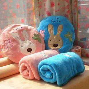 Оптовые Подарок Игрушки Кролик Стул Коврик Подушка С Одеяло Подушка Автокресло Подушка 90*80 см Симпатичные Теплый Мягкий