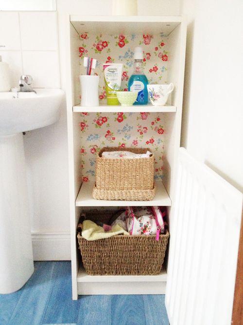 Heart Handmade UK: Cath Kidston Wallpaper Backed Ikea Billy Cabinet