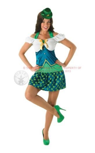 Adult Sexy Irish St Patricks Miss Leprechaun Ladies Fancy Dress Costume Outfit (R880642) | General Costumes | Ladies Costumes | Around the World