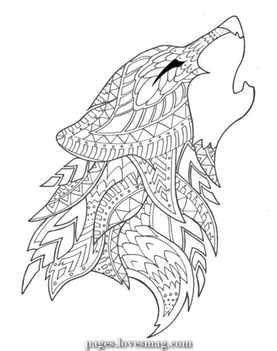 Elegant Coloring Wolf Drawing By Syvanahbennett On Etsy Animal Coloring Pages Wolf Colors Bird Coloring Pages
