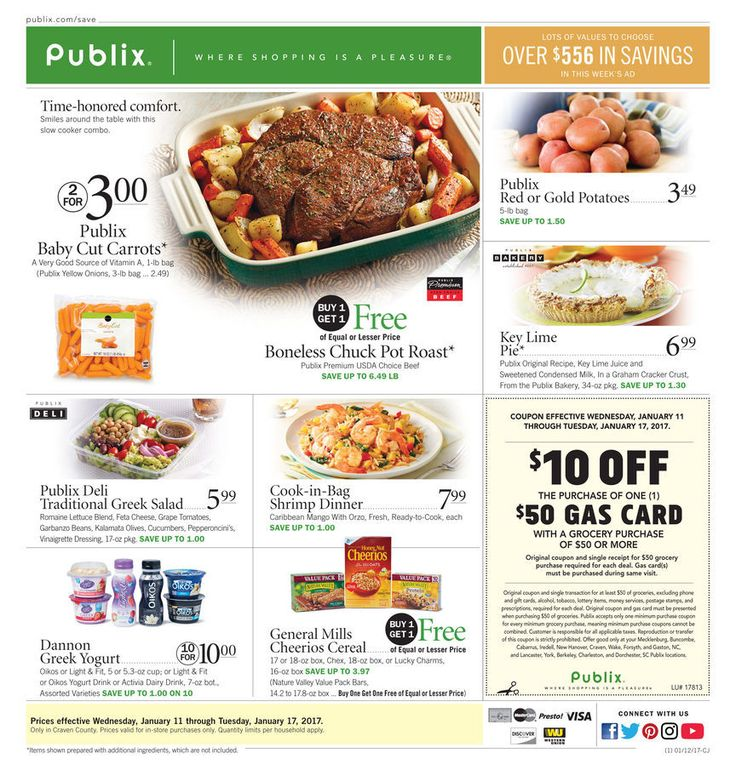 Publix Weekly Ad Circular January 11 - 17 United States #Food #Publix