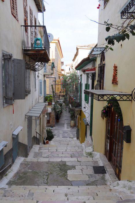 Cobbled road - Nafplio, Greece