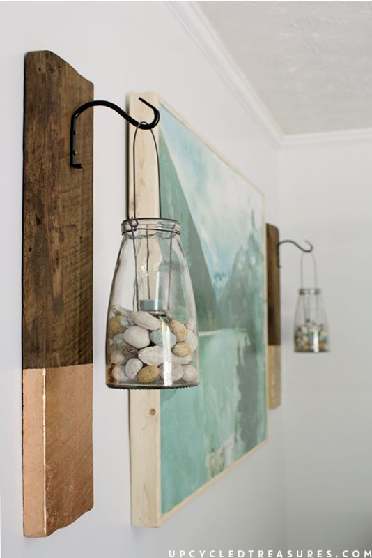 DIY Large Scale Wall Art with Wood Frame by Upcycled Treasures for Remodelaholic