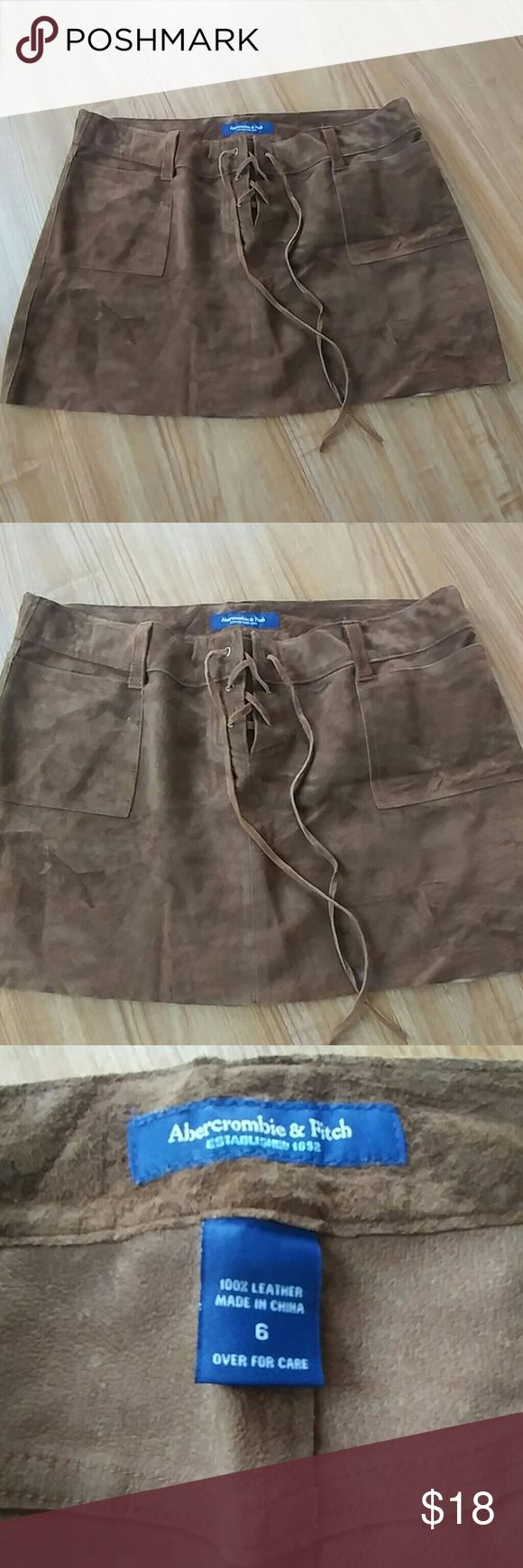 Abercrombie Fitch skirt 100% Leather good condition Abercrombie & Fitch Skirts Mini