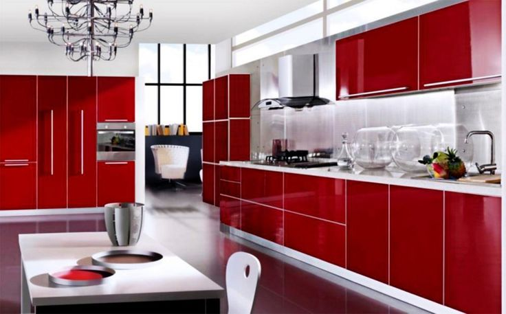 Best 20 red kitchen cabinets ideas on pinterest - Black red and white kitchen designs ...