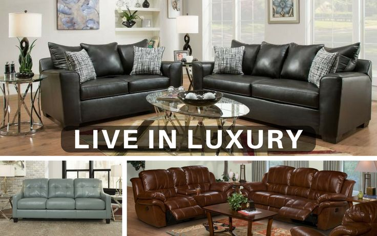 Host your next gathering with boundless #style and ultimate comfort.  Our #leather looks can have you living in luxury!   #home #family #decor #furniture #luxury #sofa