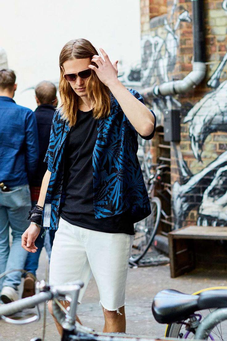 Loom Palm Blue Short Sleeve Shirt