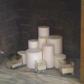 Fireplace candle forest