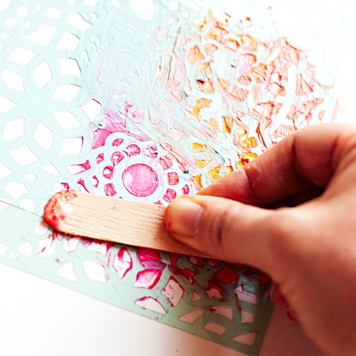 Heather Greenwood | Mixed Media Tutorial | Alter Project Life Cards with Gelatos, Gel Medium and Stencils