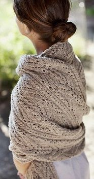 Michele Wang | Topiary shawl knit in Shelter | Brooklyn Tweed