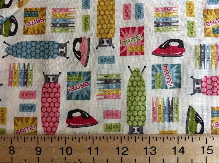 Ordinary Laundry Room Fabric Part - 3: Design: U0027Washday Utility Roomu0027 Cream By The Henley Studio For Makower UK