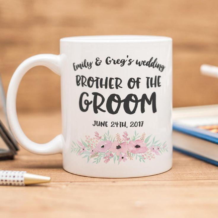 Beautiful Wedding Gifts: Brother Of The Groom Mug, Beautiful Wedding Gift! By