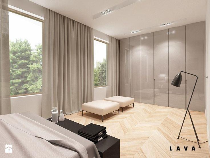 Sypialnia - Styl Nowoczesny - LAVA Projektowanie Wnętrz