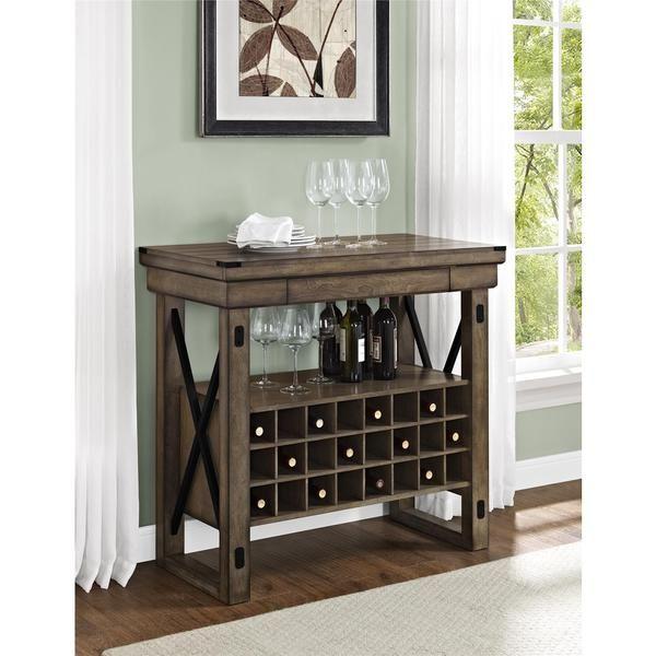 rustic wine cabinet rack liquor storage rack bottles wood country furniture new