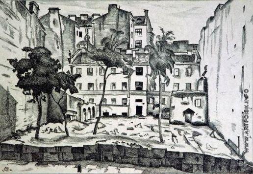 Добужинский М. В. Пустырь на Васильевском острове, 1922