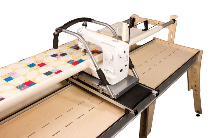 Little Gracie Machine Quilt Frame Fun to use and watch the quilting stitches growing.