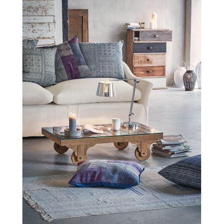 Sofa, 2,5-Sitzer, abnehmbare Baumwollbezüge Vorderansicht