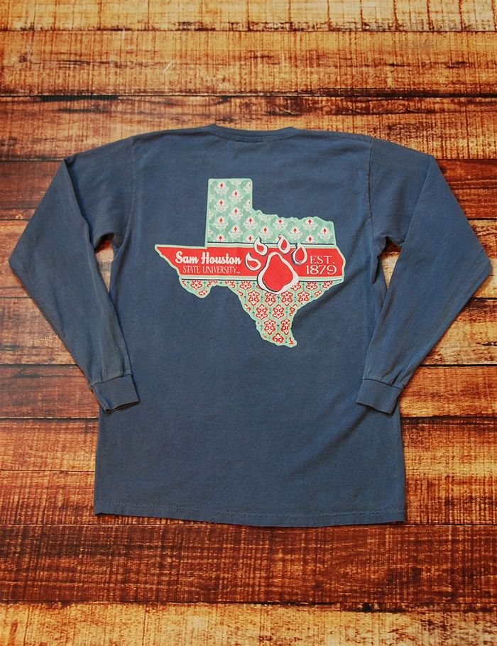 Show your undying love for your favorite school, Sam Houston State University, in this awesome new Comfort Color t-shirt! Who doesn't love showing they rep the best school around? Go Bearkats!