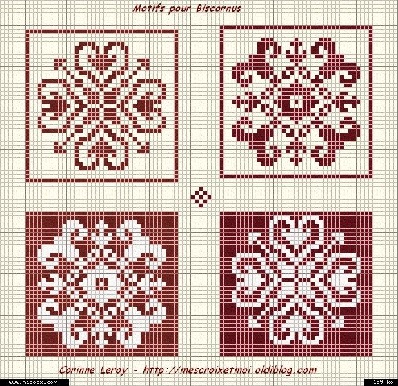 biscornu. Sewing pattern graph: cross stitch, plastic canvas.