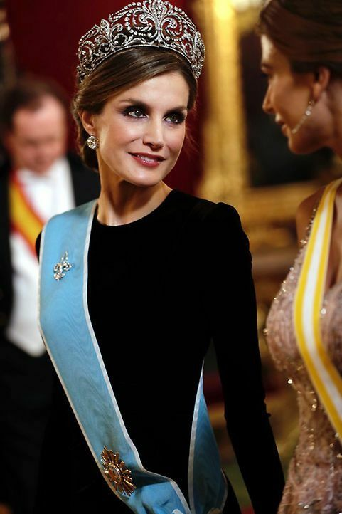 Queen Letizia of Spain wearing the Fleur de Lys tiara
